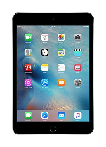 "Apple iPad Mini 4, 7,9"" Display mit WI-Fi, 64 GB, 2015, Space Grau (Generalüberholt)"
