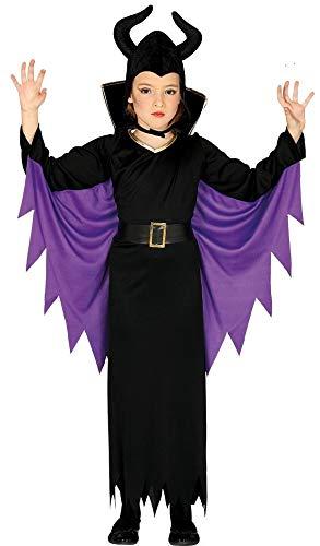 Guirca Kostüm Regina Malefica Mädchen 5/6 Jahre, Farbe schwarz und lila, 5-6, 87718