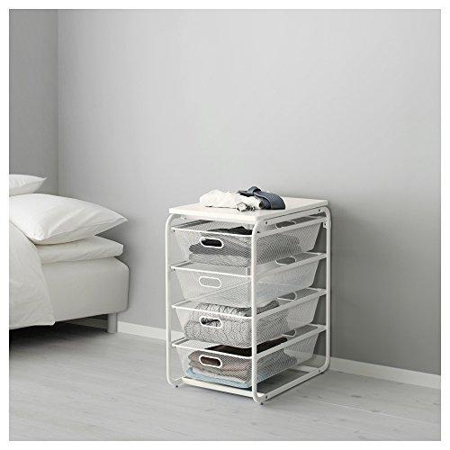 IKEA ALGOT-Rahmen/4Mesh Körbe/Top Regal weiß