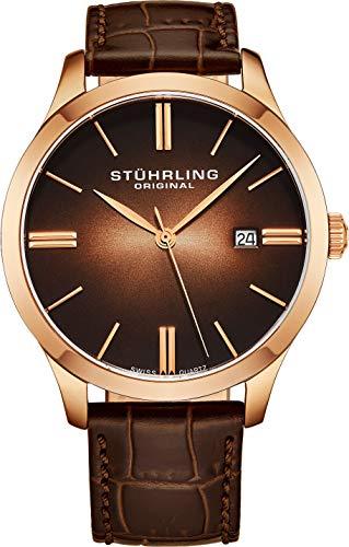 Stuhrling Original 706.01 Herren-Armbanduhr Analog Quarz Leder - Quarz Original Stuhrling Swiss