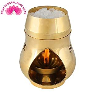 Reiki Crystal Products Brass Aroma Incense Burner Camphor Lamp Aroma Lamp Oil Burner Oil Diffuser with Diya