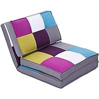 Preisvergleich für colourliving Klappmatratze Sessel Gästebett Schlafsessel Multicolor Liegesessel
