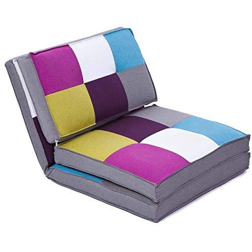 colourliving Klappmatratze Sessel Gästebett Schlafsessel Multicolor Liegesessel