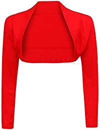 Long Sleeve Cropped Plain Bolero Shrug
