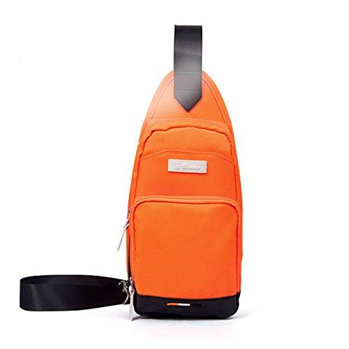 BULAGE Männer Brustbeutel Freizeit Sport Messenger Schulter Mode Einfache Leicht Zu Tragen Tasche Orange