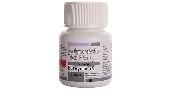 Euthyrox 75 Bottle Of 100 Tablets Amazon In