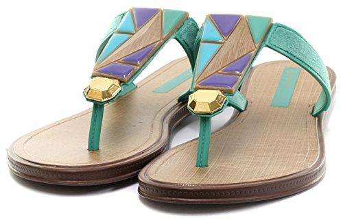 Grendha Brasil Treasure Thong Femme Flip Flops Jade