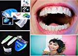 Kalathiya White Light Teeth Whitening System Tooth Polisher Whitener Stain Remover with LED Light Luma Smile Rubber Cups