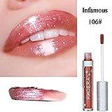 F Gaddrt Matte Glitter Liquid Lipstick Waterproof Lip Gloss Makeup Great For Haleen