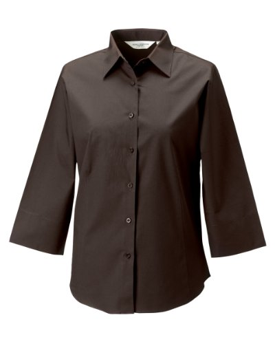 Russell Collection Lady 3/4 Sleeve Shirt Braun - Chocolate