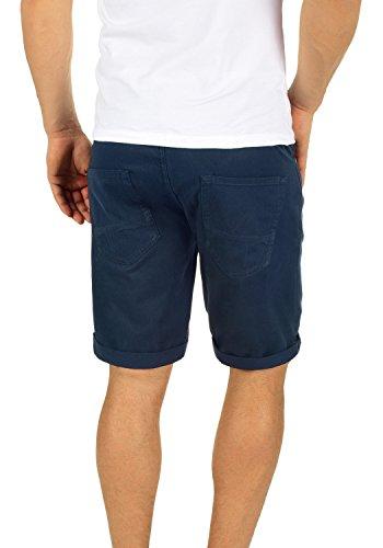 PRODUKT Fredo Herren Shorts kurze Hose Bermuda aus 100% Baumwolle Black Navy  ...