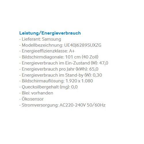 Samsung UE40J6289 - 3
