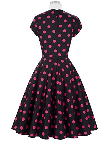 Belle Poque Damen Vintage Retro 1950er Kleid Festliche Kleid Partykleid Farbe15#