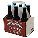 Portabirre in legno, set da sei birre, portabirre per 6 bottiglie, set da 6 birre, regalo di birra, compleanno per i 70 anni, regalo di compleanno per i 70 anni, con stampa, di legno, 70° compleanno