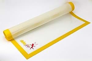 dekofee Silikon Arbeitsunterlage 60x50 cm extra breit mit Glasfaserkern