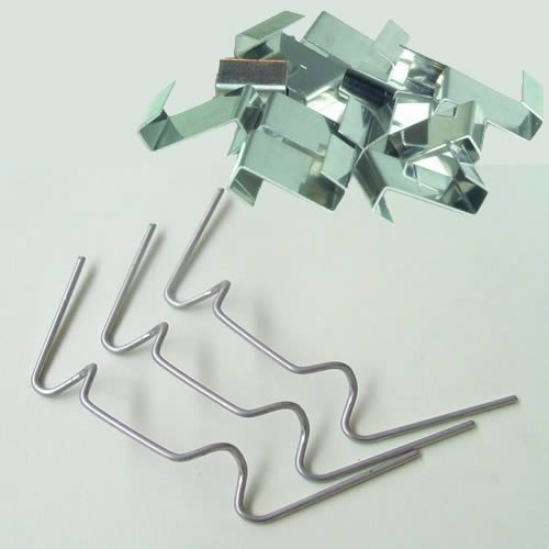 200 Heswall Glass - Clips de fixation de panneaux de 100 x W & 100 x z Clip