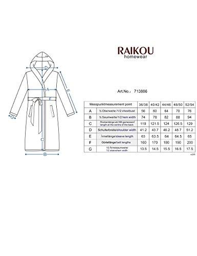 Raikou Peignoir/salon Manteau à capuche Femme - Charcoal Grau