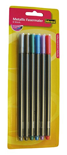 Idena Metallic Marker, 6 Stück