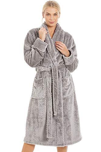 Robe de Chambre Luxueuse très Douce/alvéolée - Gris 42/44