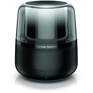 Harman Kardon Allure – Sprachgesteuerter Bluetooth-Lautsprecher mit Amazon Alexa – Schwarze Musikbox mit modernen Lichteffekten