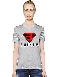 Eminem Superman Logo Frauen-T-Shirt Women T-Shirt Girl Ladies Stylish Fashion Fit Custom Apparel By Genuine Fan Merchandise