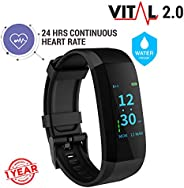 GOQii VITAL 2.0 Activity Tracker with BP Monitor & 3 months Personal Coac