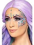 costumebakery – Accesorios de Disfraz FX Make Up Schminke, 100 Joyas y Piedras de Rostro, Carnaval, Carnaval y Noche de ayuno