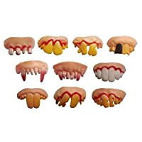 Winkey Toy for 3 4 5 6 7 8 9 + Years Old Kids Girls Boys, 10PC Tricks Toy Replica Disgust Ugly Denture False Rotten Teeth model Tooth,Best Education Toy Gift