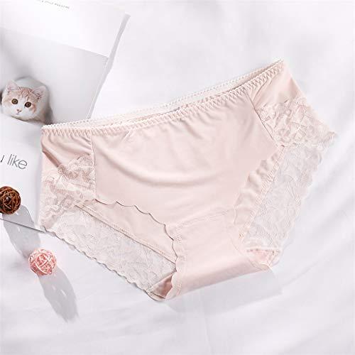 URIBAKY Damenunterwäsche Slip Ultra Soft Unterhose Spitze Mid Waist Briefs Breathable Soft Ladies Hipster Unterhosen Stretch Panties Bikinis Taillenslips Seamless Unsichtbare Dehnbare - 3