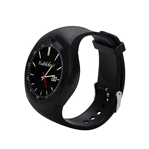 JiaMeng Smartwatches - 2019 Bluetooth Smart Watch Phone Mate pieno schermo SIM fotocamera per Android Smart watch nero