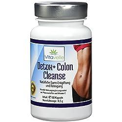 Detox Colon Cleanse | Darmreinigung und Darm-Entgiftung | Premium Apotheken-Qualität - 1 Monats Kur | Hochdosierte natürliche Kapseln | Eine gesunde Darmflora | Vitamine | Nährstoffe | Darmbakterien | 60 Premium Kapseln