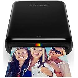 Polaroid Zip - Imprimante Équipée de la Technologie d'Impression sans Encre Zink, 5 X 7,6 cm, Micro USB, Bluetooth, Compatible avec iOS et Android, Noir