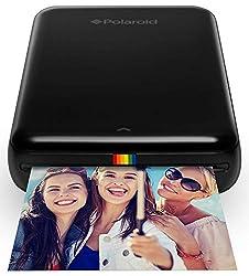 Polaroid ZIP Handydrucker mit ZINK Zero tintenfreier Drucktechnologie - Kompatibel mit iOS- & Androidgeräten - Schwarz