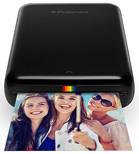 Polaroid ZIP Handydrucker mit ZINK Zero tintenfreier Drucktechnologie – Kompatibel mit iOS- & Androidgeräten - Schwarz