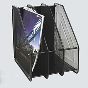 pixnor metall schreibtisch mesh stehsammler zeitschriftensammler stehorder schwarz. Black Bedroom Furniture Sets. Home Design Ideas