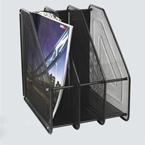 Pixnor Porta Desktop triplice copia Magazine Frames Divisori e documento Armadietto porta (Nero)