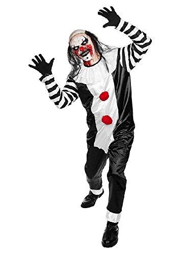 n Kostüm Horror Clown zu Halloween mit Maske (Pierrot Clown Kostüm)