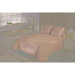 SABANALIA - Colcha Niza (Disponible en Varios tamaños y Colores), Cama 180-280 x 280, Rojo
