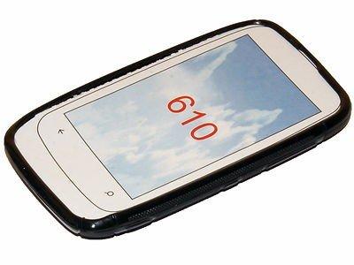 Coque2mobile® S-Line Design Noir Coque Silicone pour Nokia Lumia 610