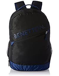 United Colors of Benetton 23 Ltrs Black Casual Backpack (16A6BAGT7006I)