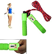 GIABELLA Fitness Jumping Skipping Rope for Gym Training, Exercise and Workout with Counting Meter (Multicolor)