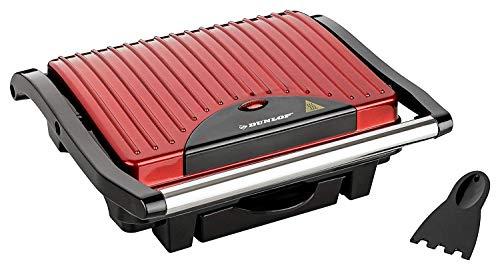 DUNLOP 3in1 Multifunktion Kontaktgrill 1000 W   Sandwichmaker + Fitnessgrill + Paninimaker in einem Gerät   25x17,5cm