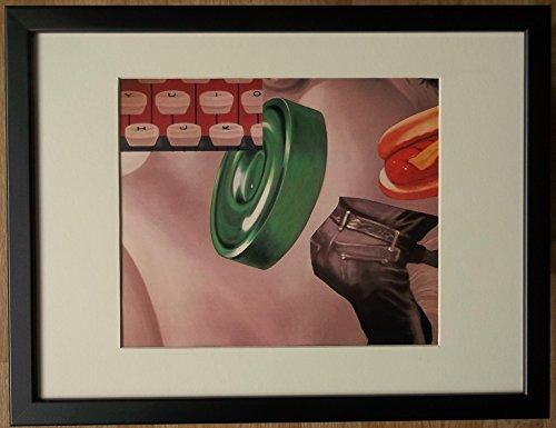 aufgezogen und gerahmt Pop Art Print–30,5x 40,6cm Rahmen, Pop Art Wall Art, Karte Gesicht, von James Rosenquist (James Rosenquist Künstler)