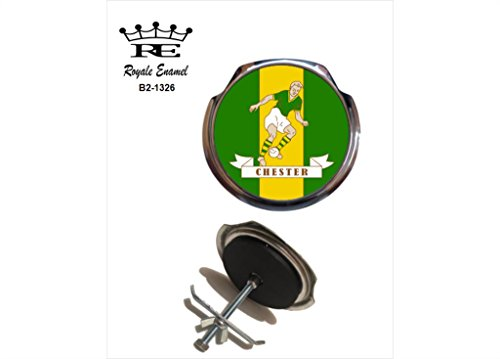 Royale Emaille Royale Car Grill Badge – Chester Fußball 1960/61 B2. 1326 (Fußball Royale)