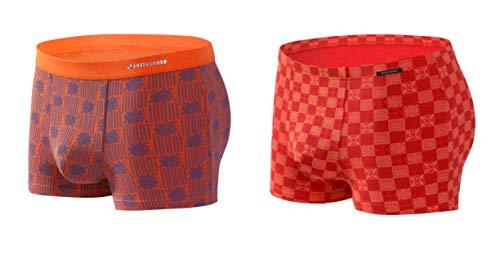 Sesto Senso® Herren Boxershorts Microfaser Multipack 1 2 4 Stück Jugend Eng Retroshorts Bambus Modal Unterhosen Anliegende Lustige Unterwäsche für Männer Funky (L, 2 Pack 5/6) -