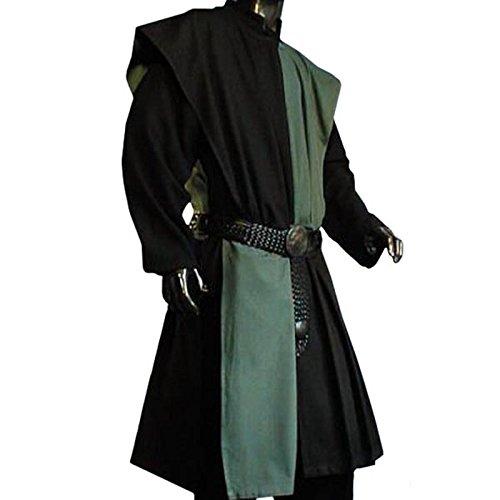Muster Ritter Gewand Kostüm - WAFFENROCK TUNIKA RITTER RITTERKAMPF BAUMWOLLE LEINEN 1480 grün- schwarz