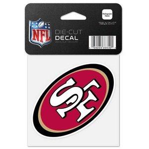 Wincraft NFL San Francisco 49ers Aufkleber in 10,2 x 10,2 cm