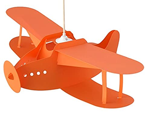 R&M Coudert Lampe Suspension Enfant Avion Orange