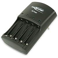 ANSMANN Cargador de níquel y zinc / cargador inteligente para 1-4 pilas recargables AAV