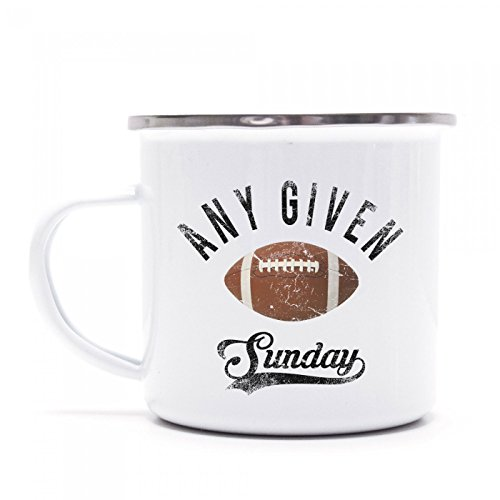 Any Given Sunday Emaille-Tasse | Football | Superbowl | USA | Kaffeetasse | Metall-Becher  Shirt...